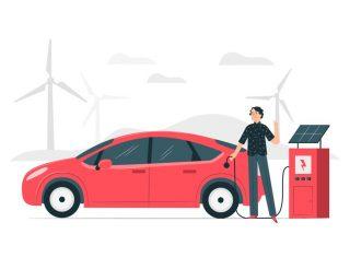 reis met elektrische auto